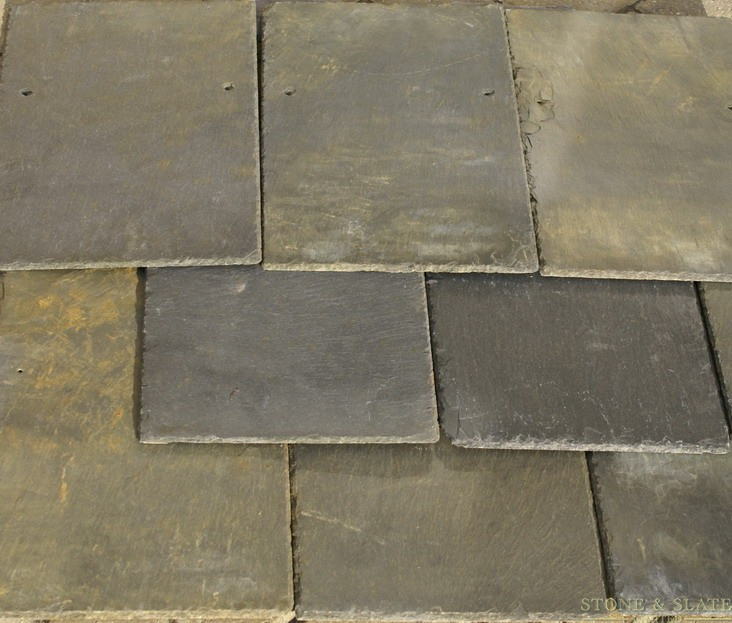 Aged slate for repair and extension