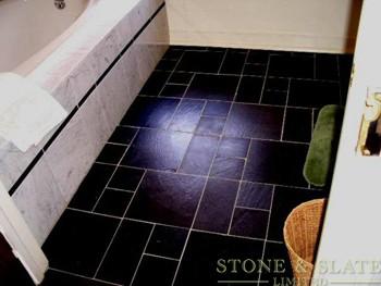 Black / Grey Slate Flooring