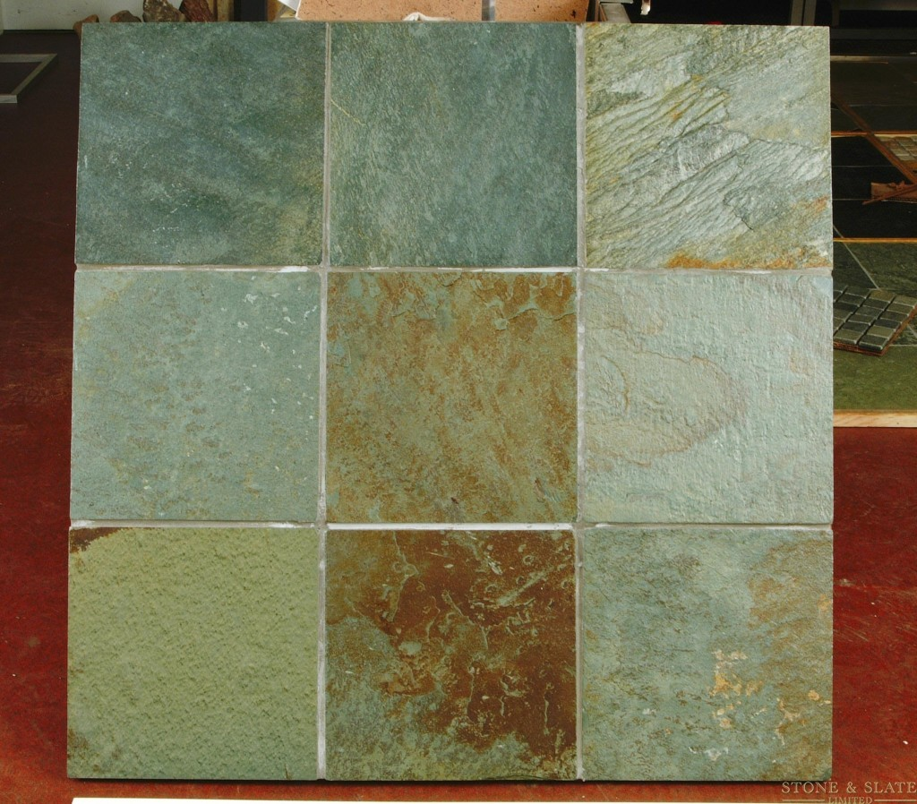 Multi Colour Olive Green Slate Flooring Stone Amp Slate