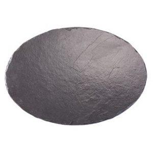 Round slate cheese platter